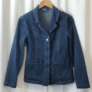 Vintage Express Bleus stretch denim blazer S